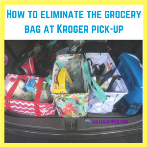 How to eliminate the grocery bag at Kroger pick-up